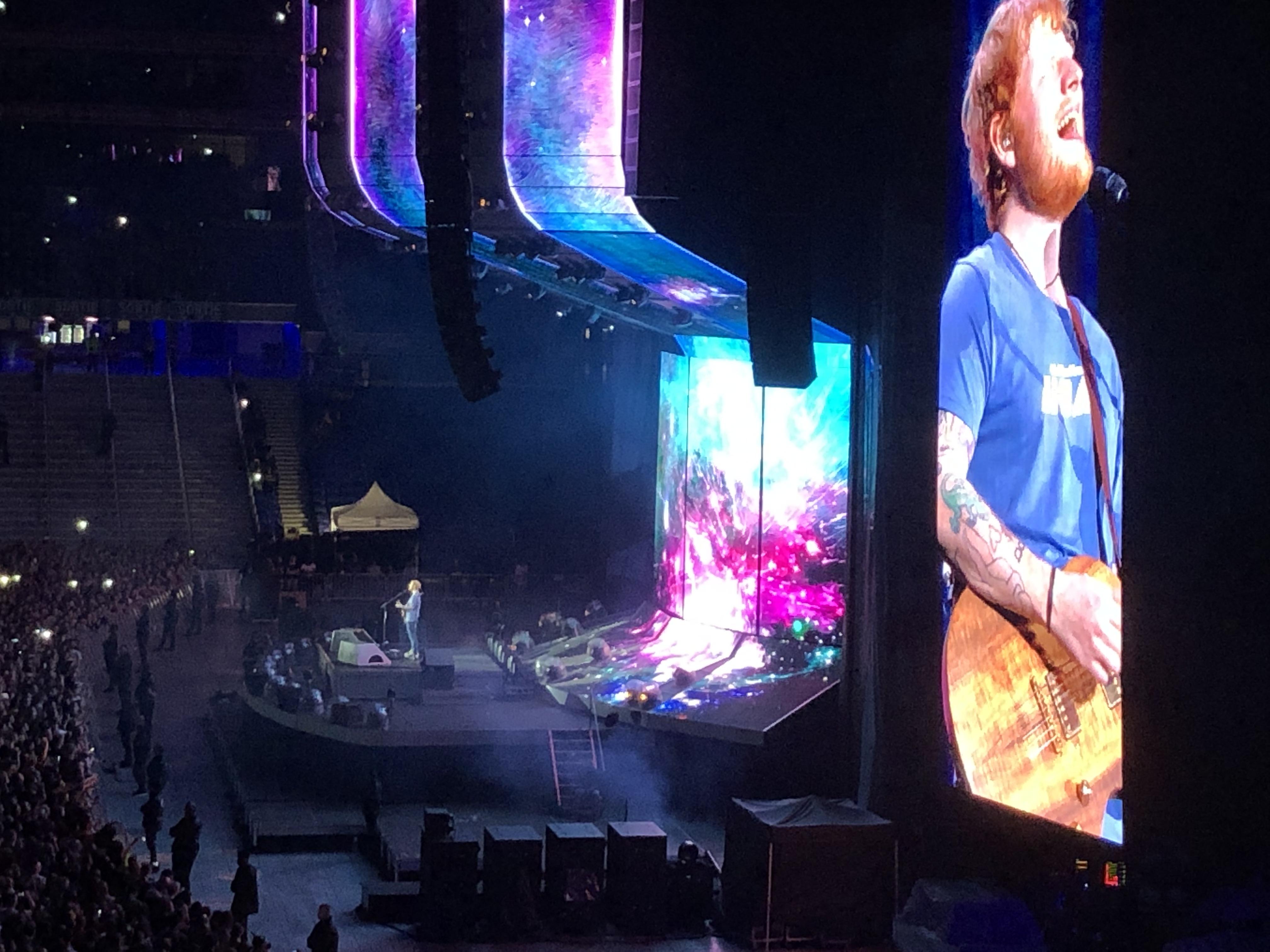 « Ed Sheeran, mon premier concert. Au top ! »
